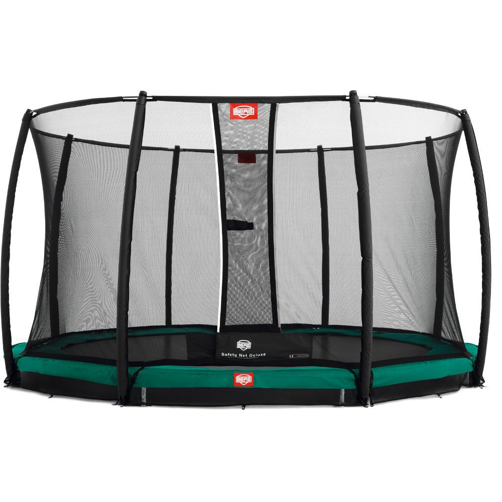 trampolin berg champion inkl sicherheitsnetz deluxe ebay. Black Bedroom Furniture Sets. Home Design Ideas