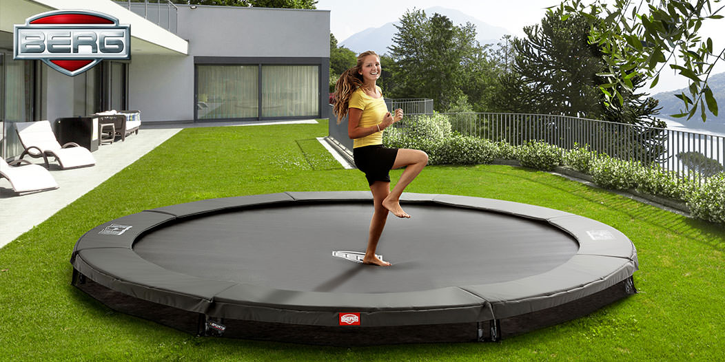 trampolin berg champion ohne sicherheitsnetz ebay. Black Bedroom Furniture Sets. Home Design Ideas