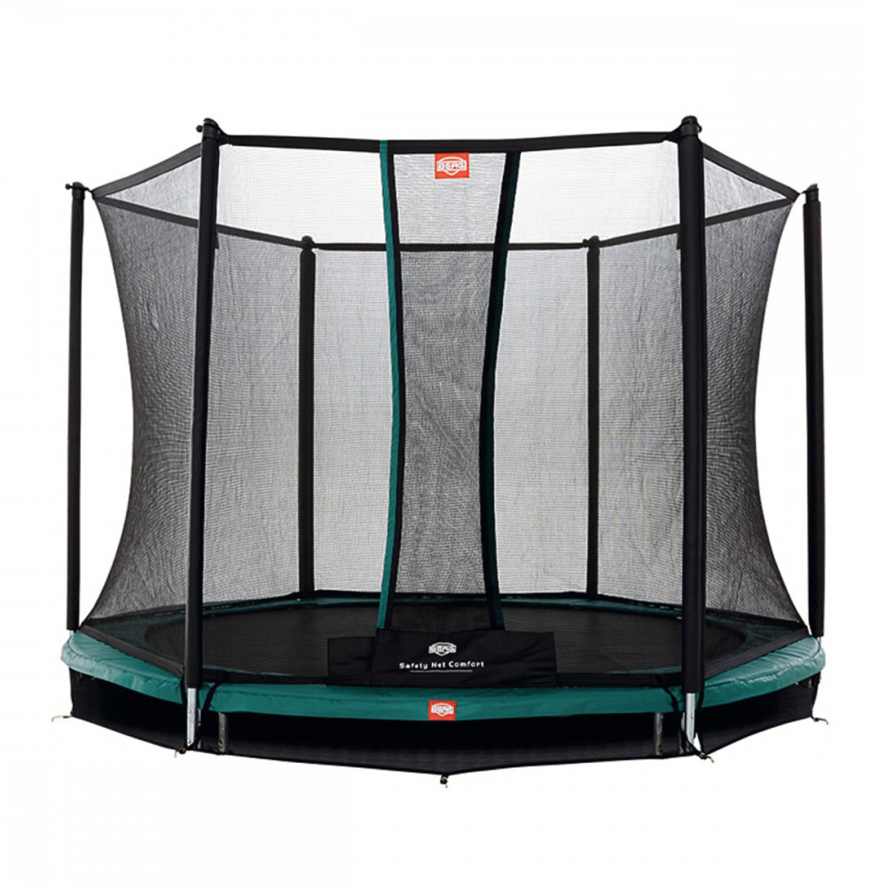 berg trampolin talent inkl sicherheitsnetz comfort spielzeug garten trampoline. Black Bedroom Furniture Sets. Home Design Ideas