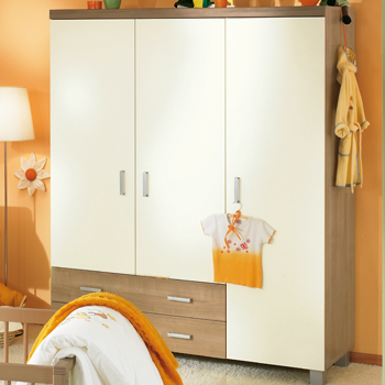 paidi leo babyzimmer mit schrank 3 t rig kirsche havanna. Black Bedroom Furniture Sets. Home Design Ideas